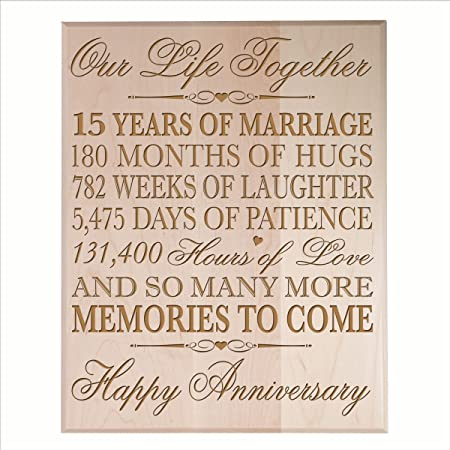 Quindicesimo Anniversario Di Matrimonio.Anniversario Di Matrimonio Regalo Per Coppia Custom 15th