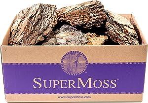 Super Moss (23255) Decorative Bark, Natural, 5lbs (4950 cu. in.)