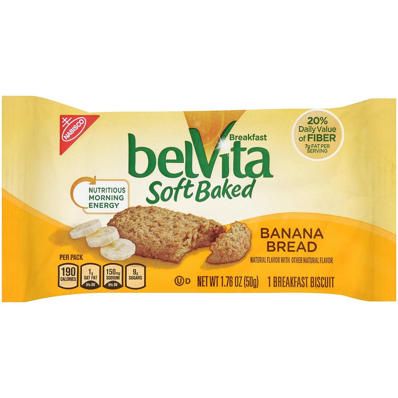 Nabisco belVita Soft Baked Breakfast Biscuits, Banana Bread, 1.76 Ounce (Pack of 8)