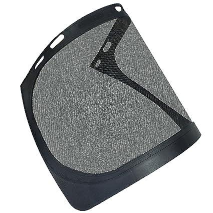 Visor de malla de acero para casco de seguridad Hat ...