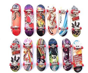 Juguete 12 pcs Monopatín , skate, con difrente dibujo: Amazon.es: Juguetes y juegos