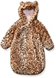 Carter's Baby Girls Bundle Up Cozy Pram with Ears, Cheetah, 0/6 Months