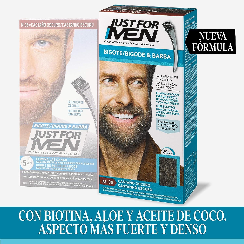 Just for men Tinte Colorante En Gel Para Barba Y Bigote Para ...