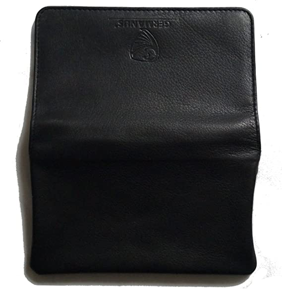GERMANUS Estuche Bolsa Bolso de tabaco de cuero genuino, Made in EU - Classic II