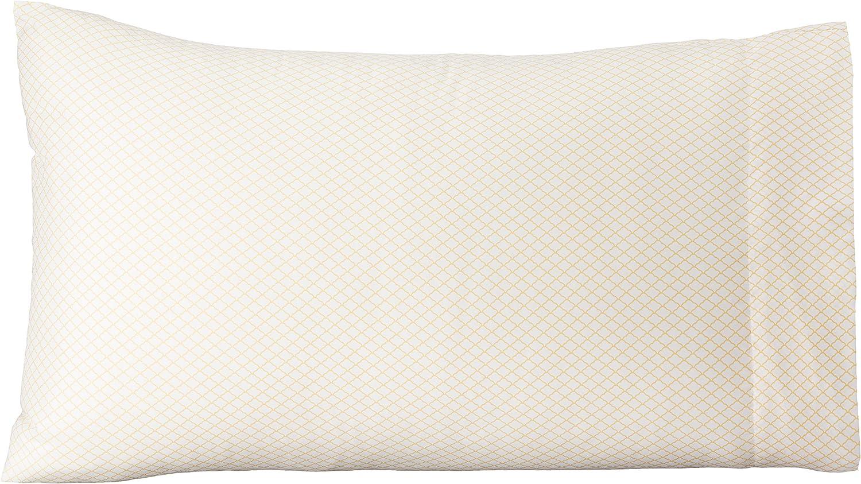 50 x 80 cm Basics 2 unidades Beige Funda de almohada de microfibra