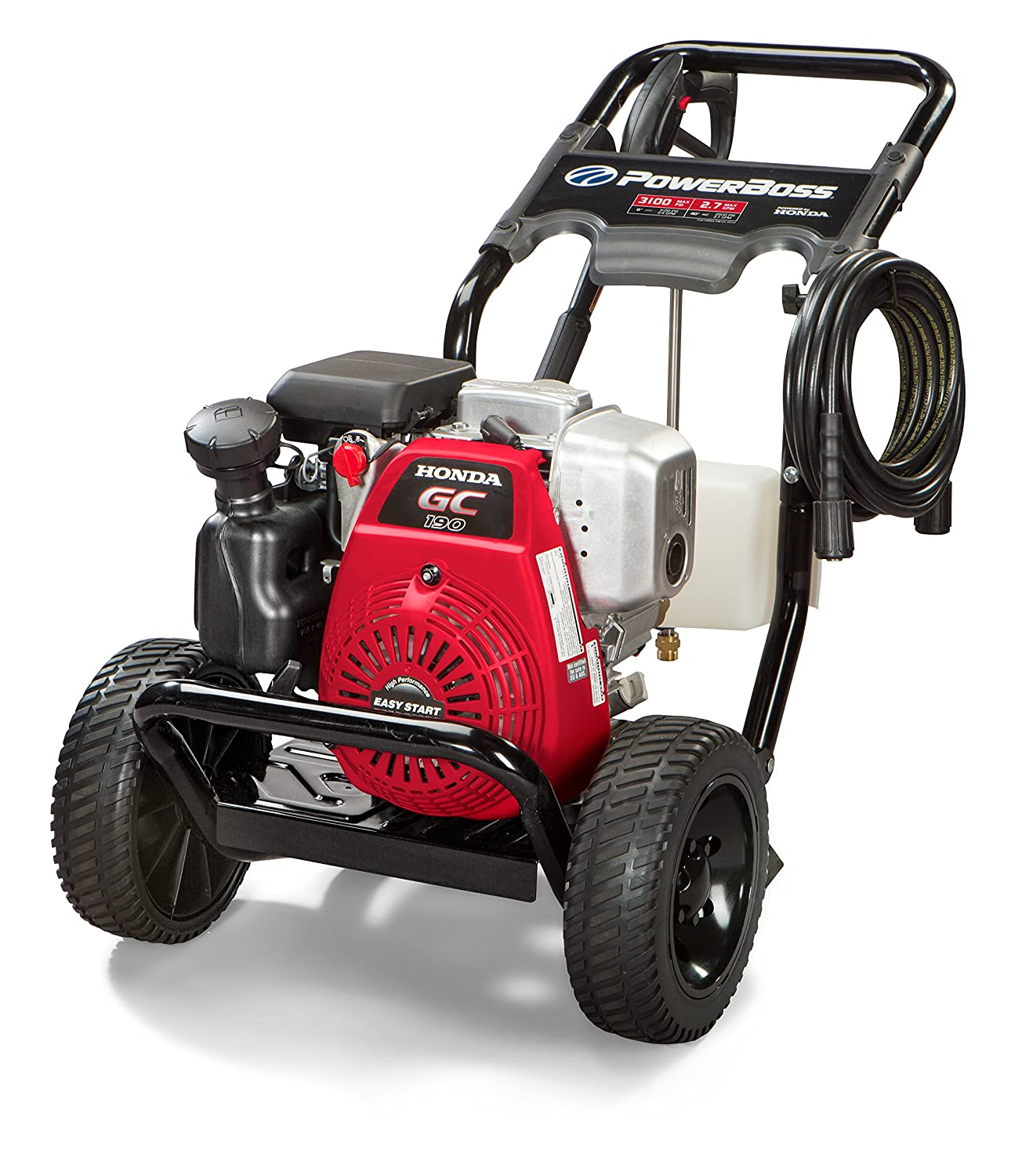 Superb Amazon.com : PowerBoss Gas Pressure Washer 3100 PSI, 2.7 GPM Powered By  HONDA GC190 Engine With 25u0027 High Pressure Hose, 4 Nozzles U0026 Detergent Tank  : Garden ...