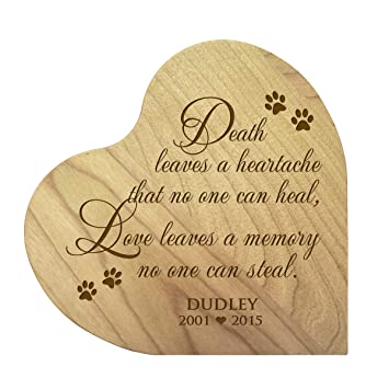 LifeSong Milestones Personalized Wood Maple Dog Cat Horse Pet Memorial  Heart Block Quotes Custom Engraved Sympathy Gift Ideas for Loss of pet  Memorial