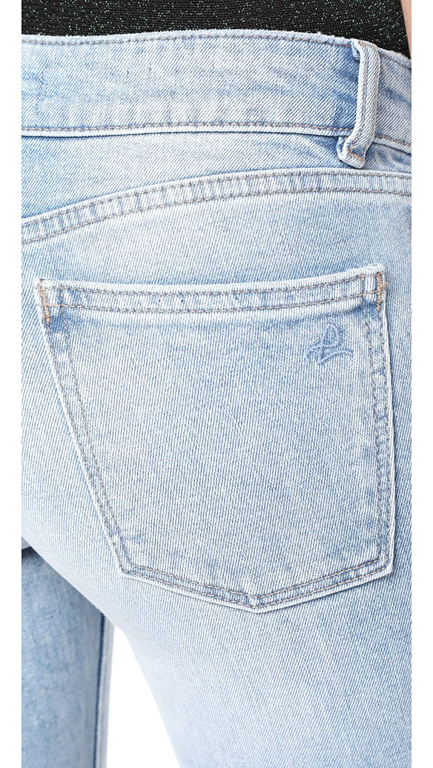 DL1961 Womens Lara Instasculpt Cropped Flare Jeans
