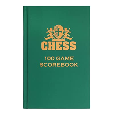 WE Games Hardcover Chess Notation Scorebook- Green: Toys & Games