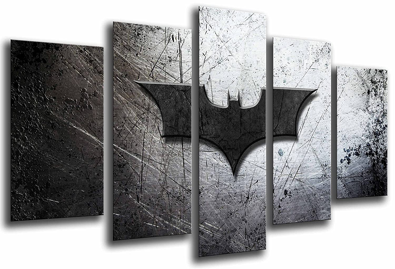 Cuadros Camara MULTI Wood Printings Art Print Box Framed Picture Wall Hanging - Batman, the joker, Superheoe, (Total Size: 65