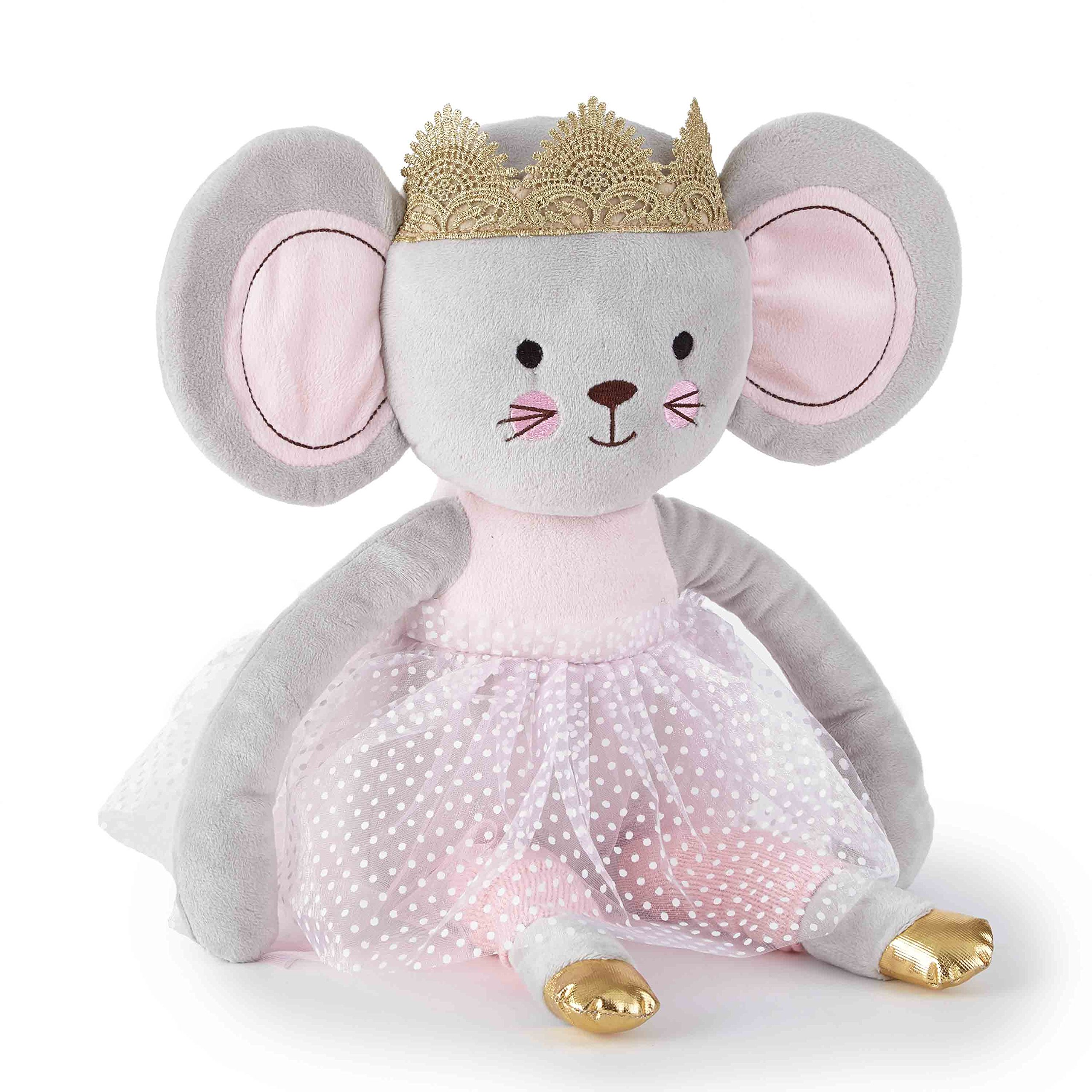 Levtex Baby Elise Grey and Pink Princess Mouse Plush