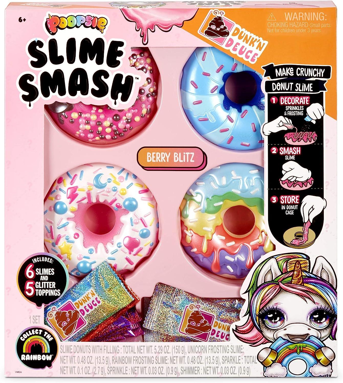 Poopsie Slime Smash Berry Blitz with Crunchy Donut Slime, Multicolor, Model:569268