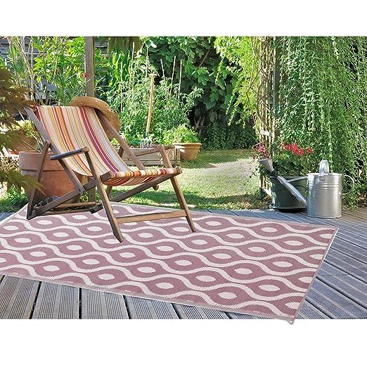 Jemidi Terrassenteppich Außenteppich 120x180cm Balkonteppich