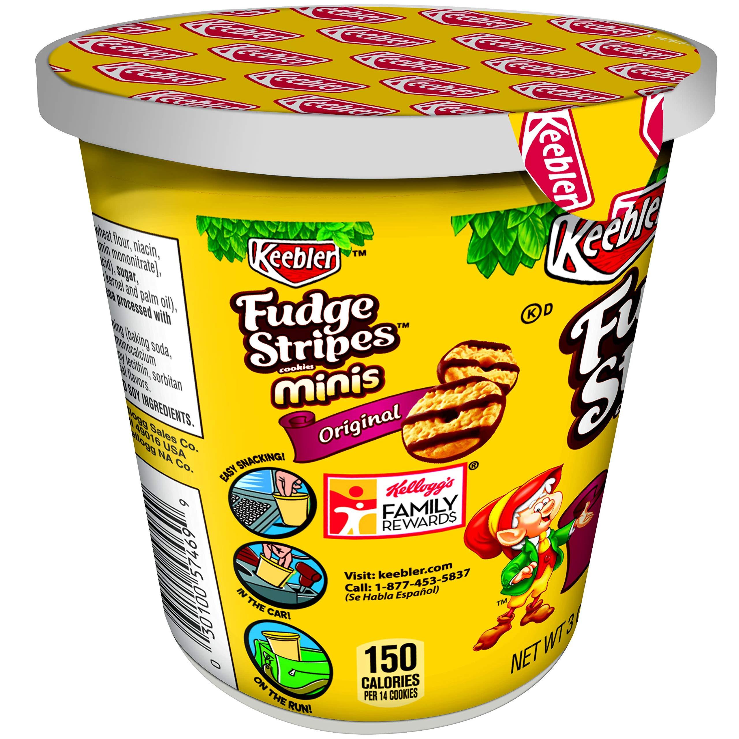 KeeblerFudge Stripes Cookies Minis in a Cup, Original, 3 oz by Keebler (Image #7)
