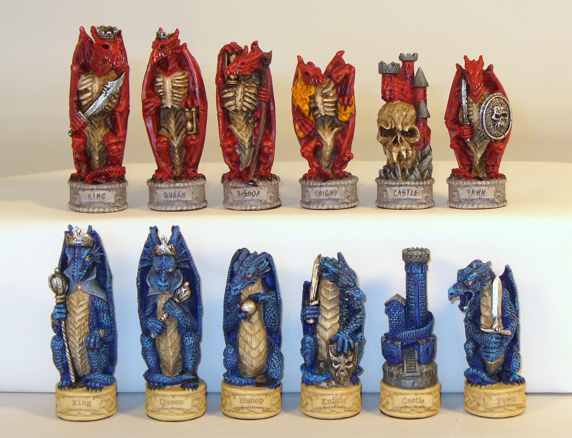 Dragon's Keep - Justice vs. Evil Painted Resin Chessmen