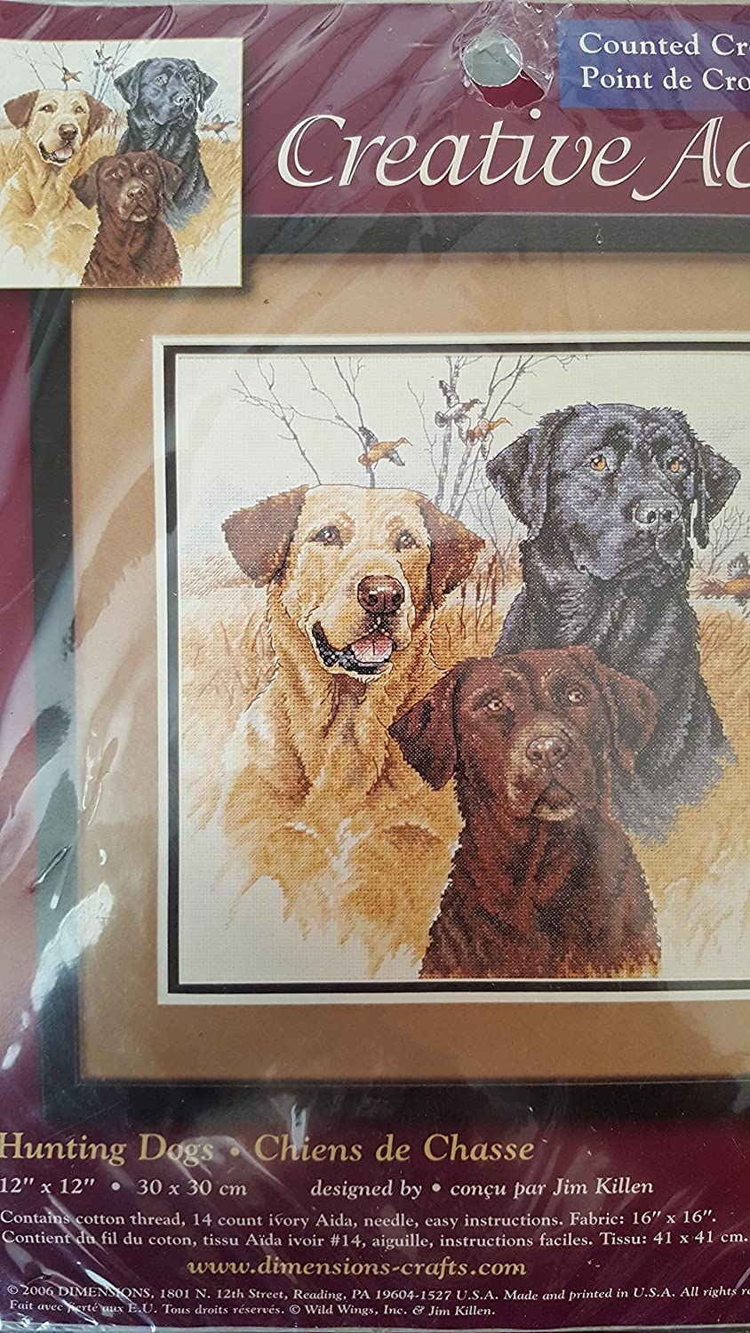 Creative Accents Counted Cross Stitch Hunting Dogs 12x12