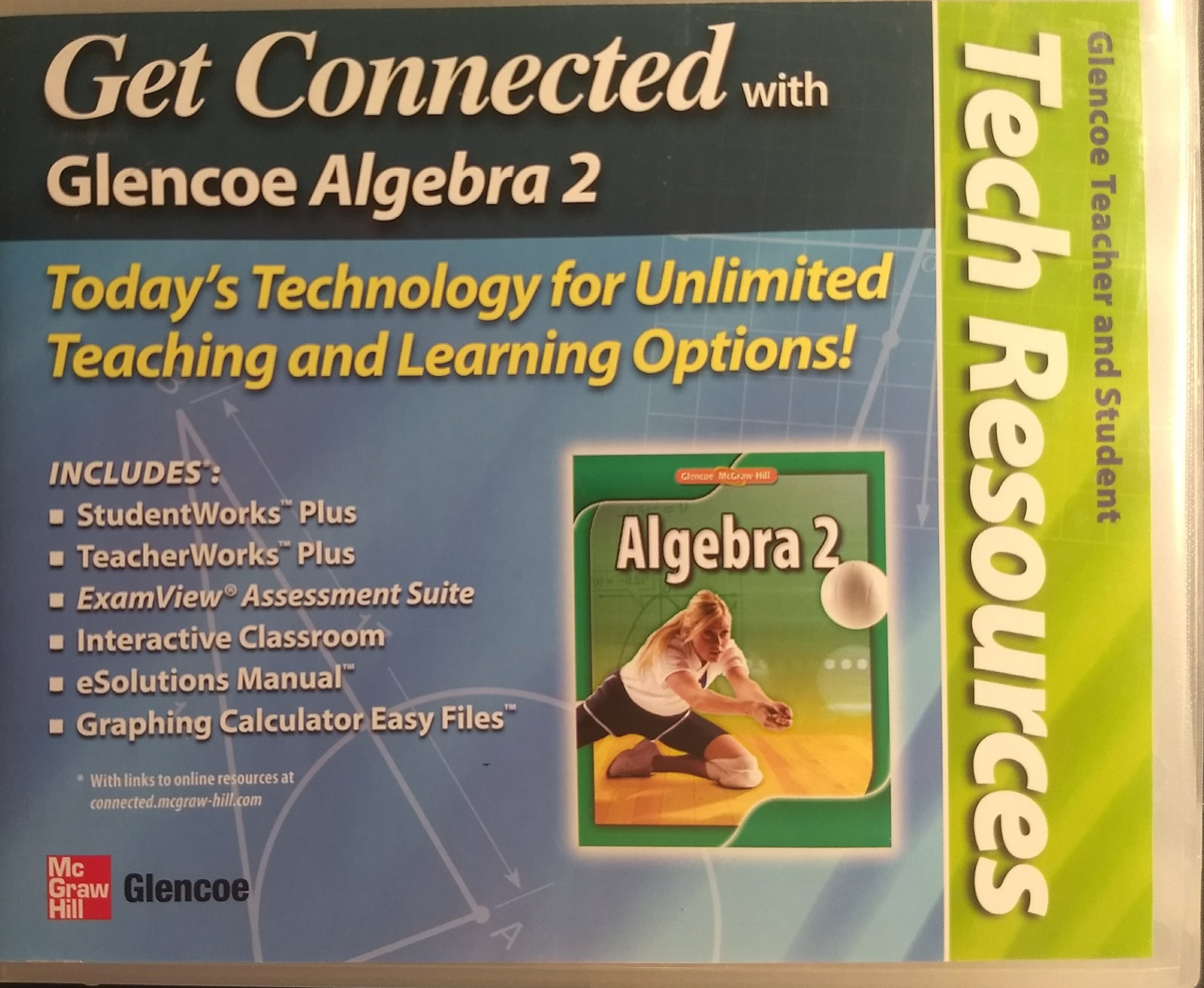 Glencoe Algebra 2 Teacher and Student Tech Resources: Various