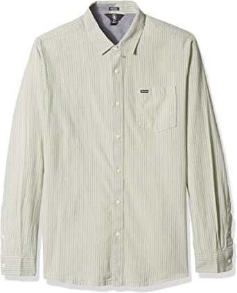 Volcom Hombre A0531800 Manga Larga Camisa de botones - Verde ...