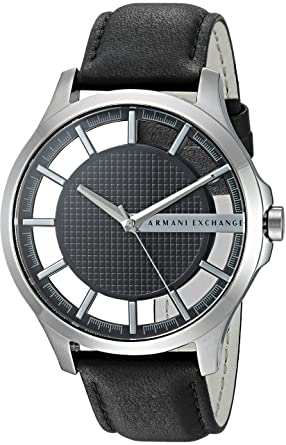 Image Unavailable. Image not available for. Color  Armani Exchange Men s  AX2186 Black Leather Watch 4876e06c80