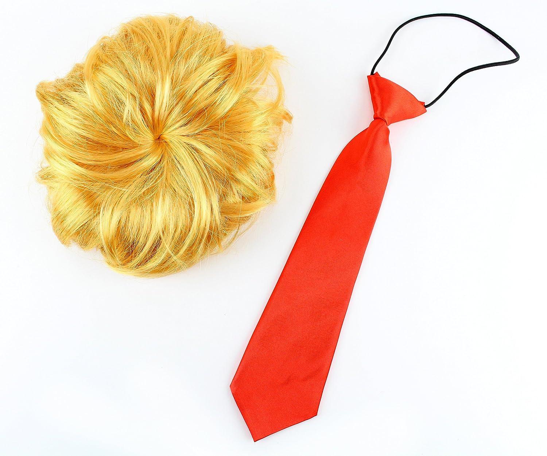 Large Midlee President Wig & Tie Dog Costume (Large)