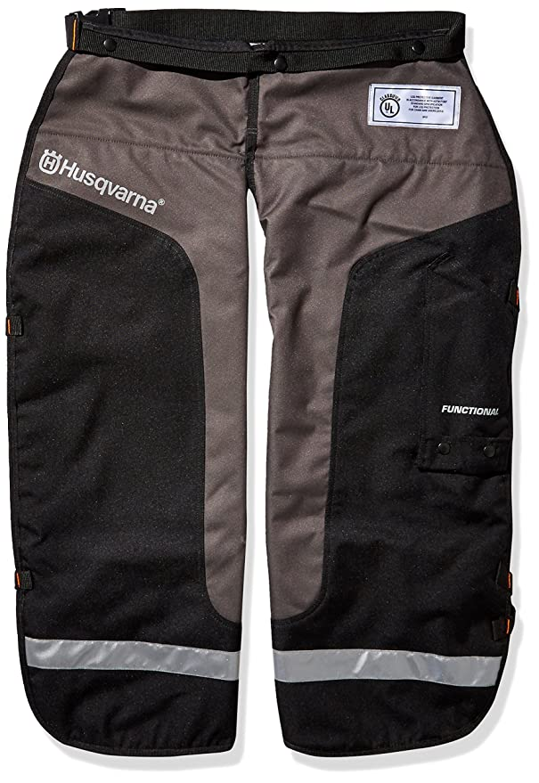 Best Chainsaw Chaps: Husqvarna 587160702 Chainsaw Chaps Protective Functional Leg Wear