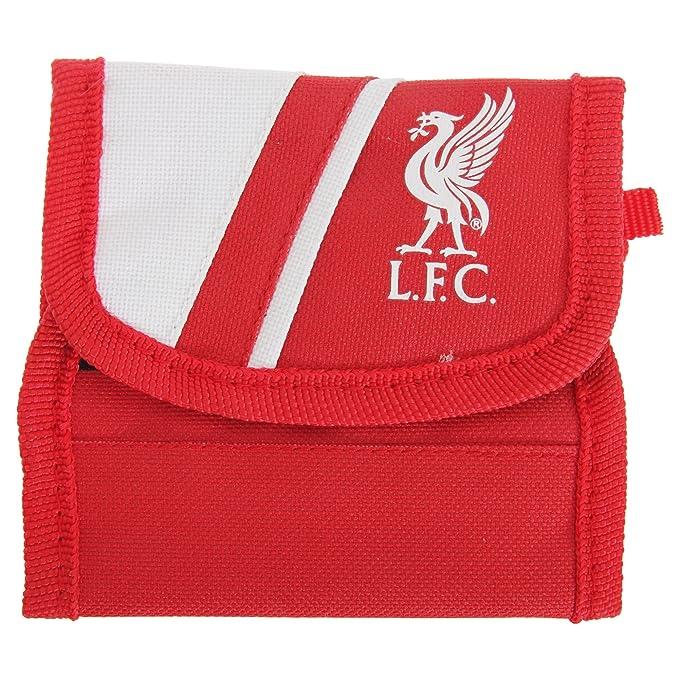 Liverpool FC - Billetera/ Monedero/ Cartera de tela con velcro oficial para hombre/
