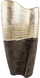 Brubaker–de mesa o suelo Jarrón 34,5cm altura Porcelana goldfarbig marrón