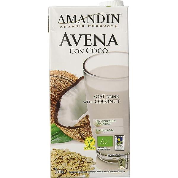Amandin Bebida de Avena con Coco - Paquete de 6 x 1000 ml ...