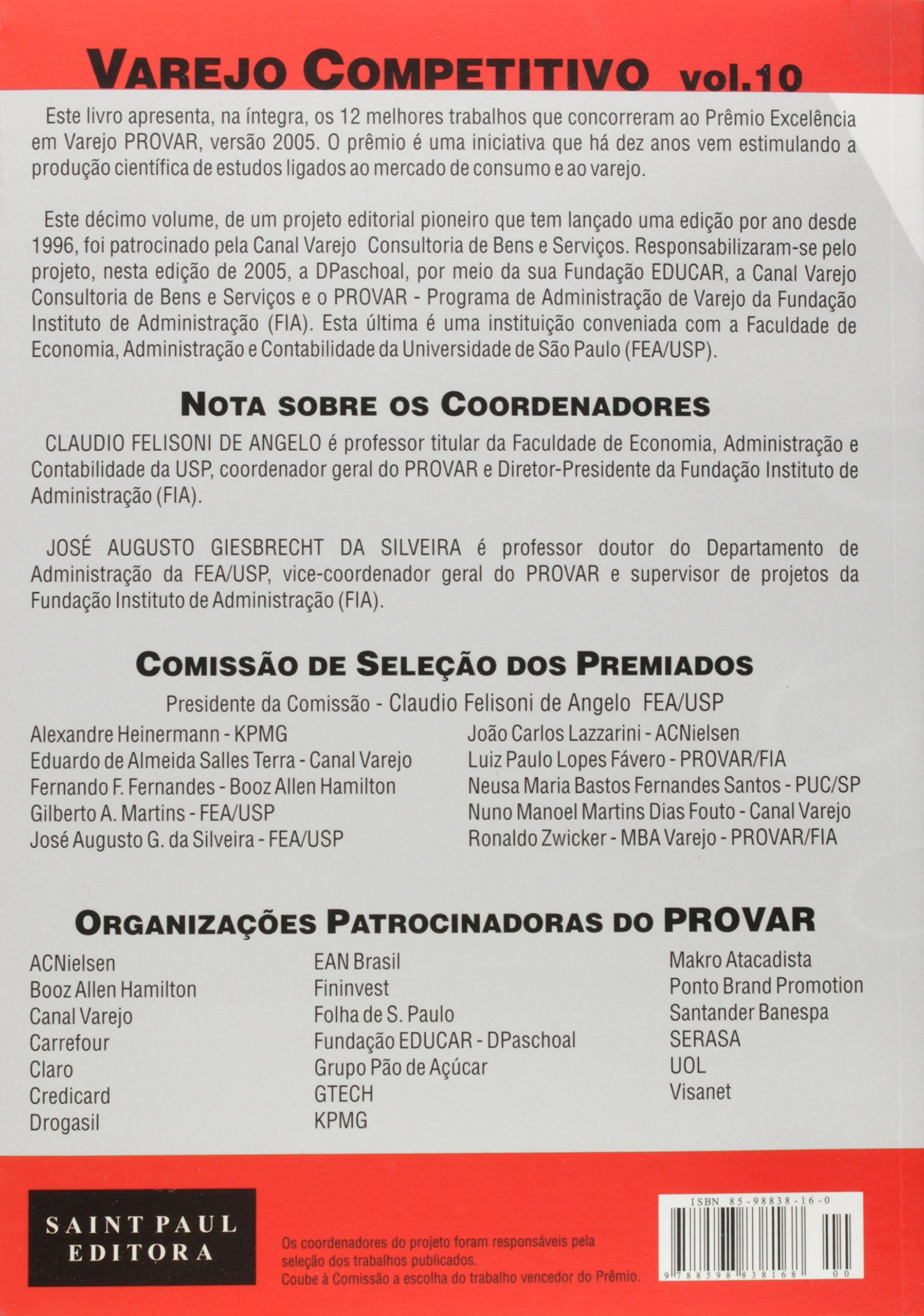 Varejo Competitivo - Volume 10: Claudio Felisone de Angelo: 9788598838168: Amazon.com: Books