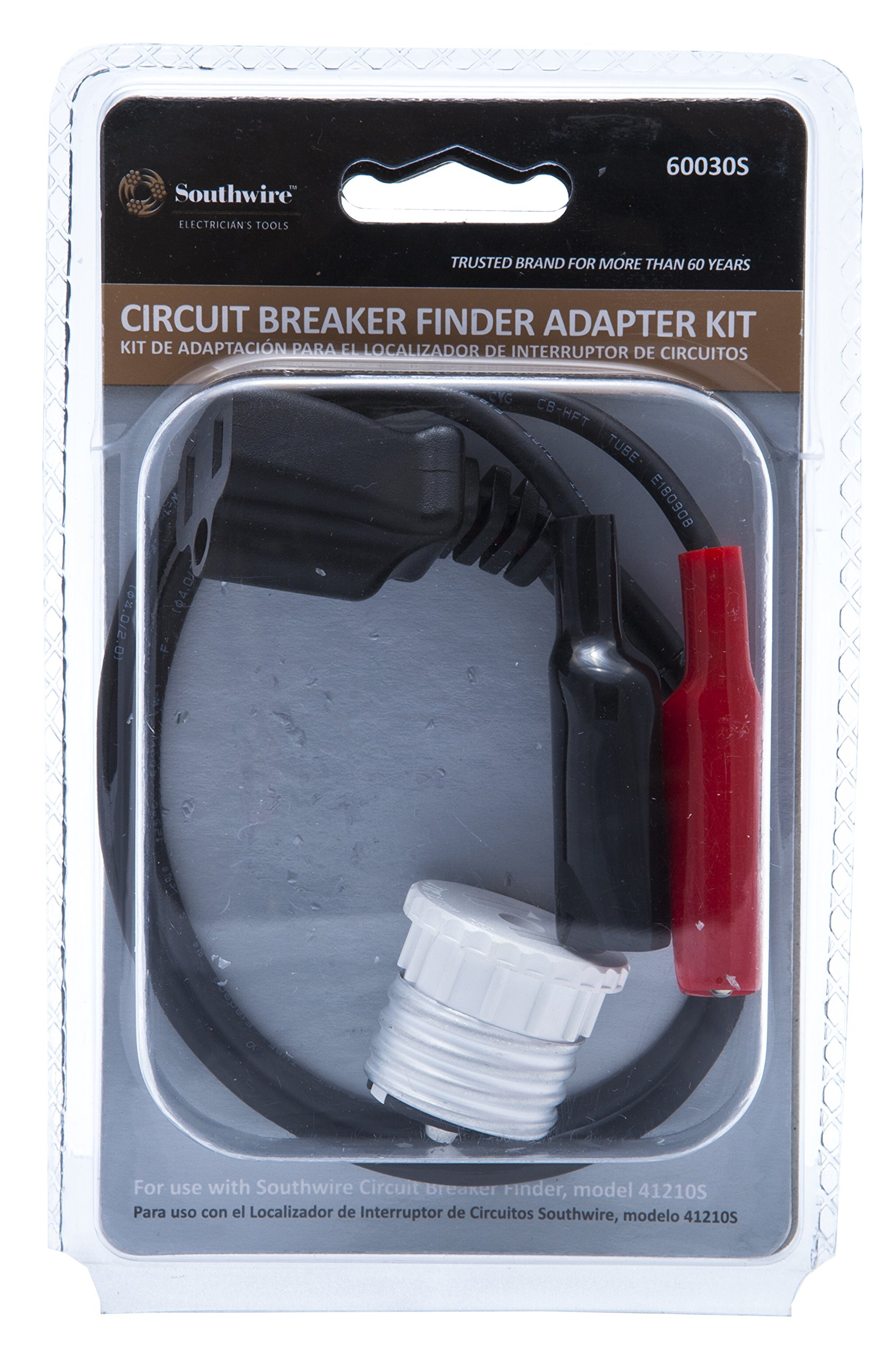 Southwire Tools & Equipment 60030S Circuit Breaker Finder Adapter/Accessory Kit; Includes Alligator Clips and Light Bulb Circuit Adapter (Compatible with Southwire's 41210S Circuit Breaker Finder) by Southwire