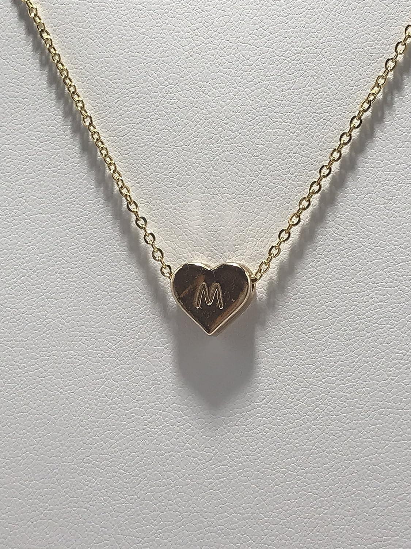 Gold plated monogram necklace letter K