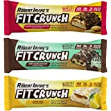 FITCRUNCH Snack Size Protein Bars   Designed by Robert Irvine   World's Only 6-Layer Baked Bar   Just 3g of Sugar & Soft Cake Core (18 Snack Size Bars, Variety Pack)
