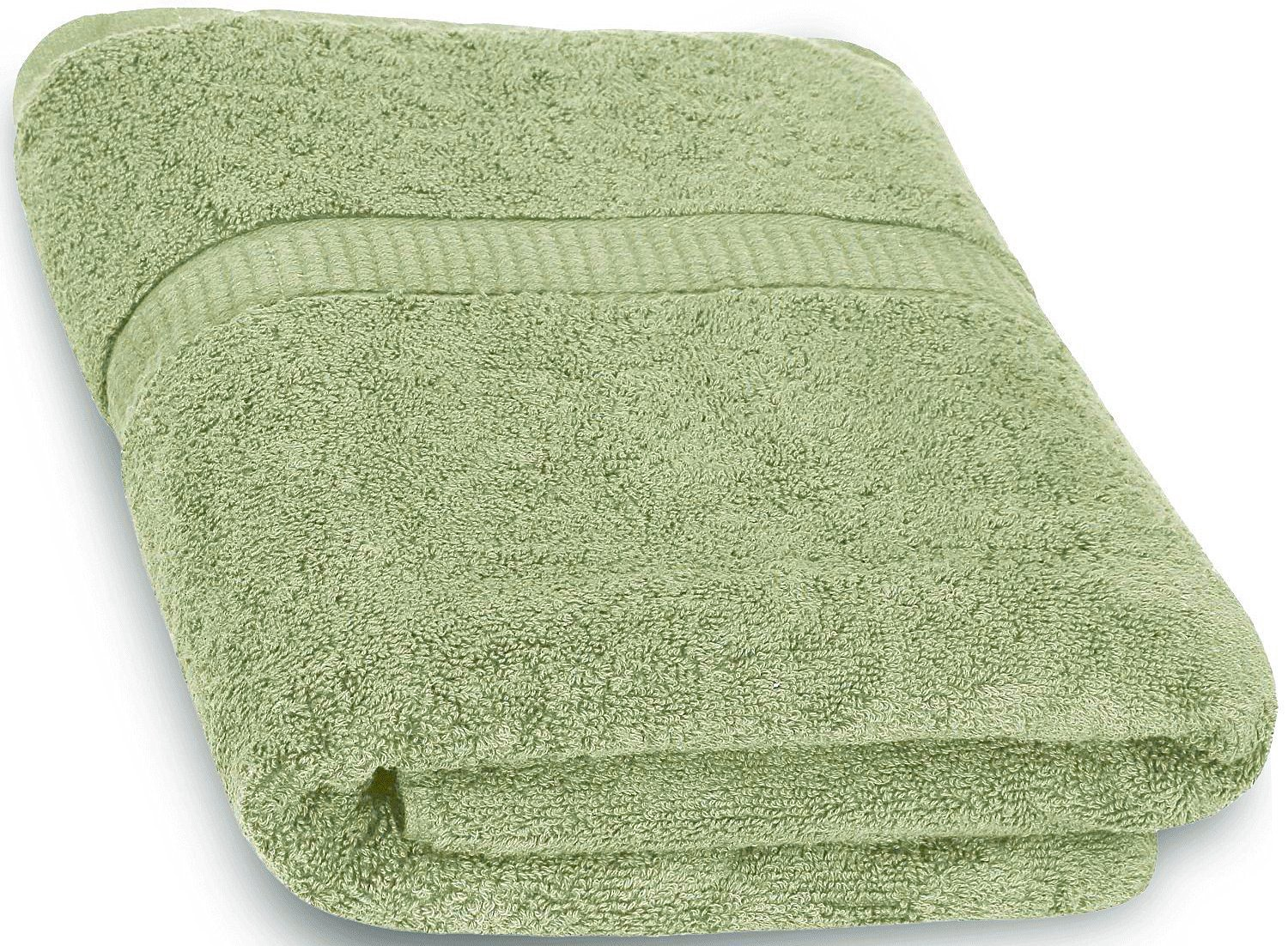 cotton bath towels sage green 30 x 56 inch luxury bath sheet perfect for home ebay. Black Bedroom Furniture Sets. Home Design Ideas