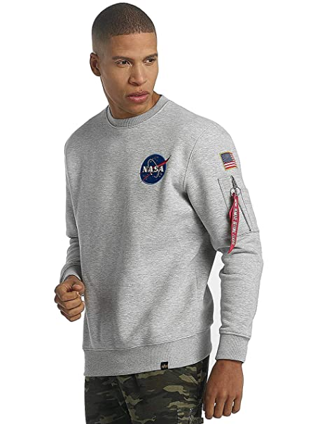 Neu Alpha Industries Pullover X Fit Sweatshirt Herren Grau