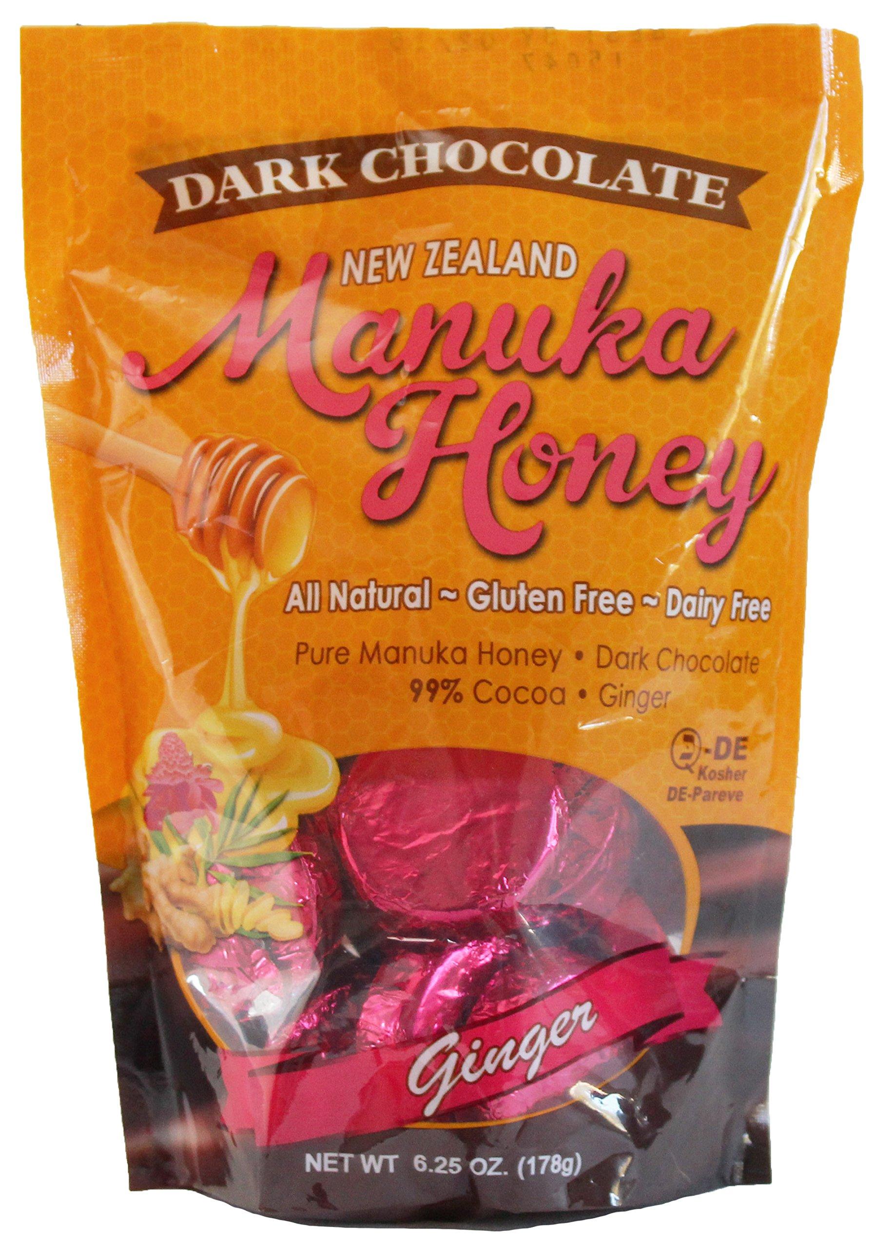 Manuka Honey Dark Chocolate with Ginger