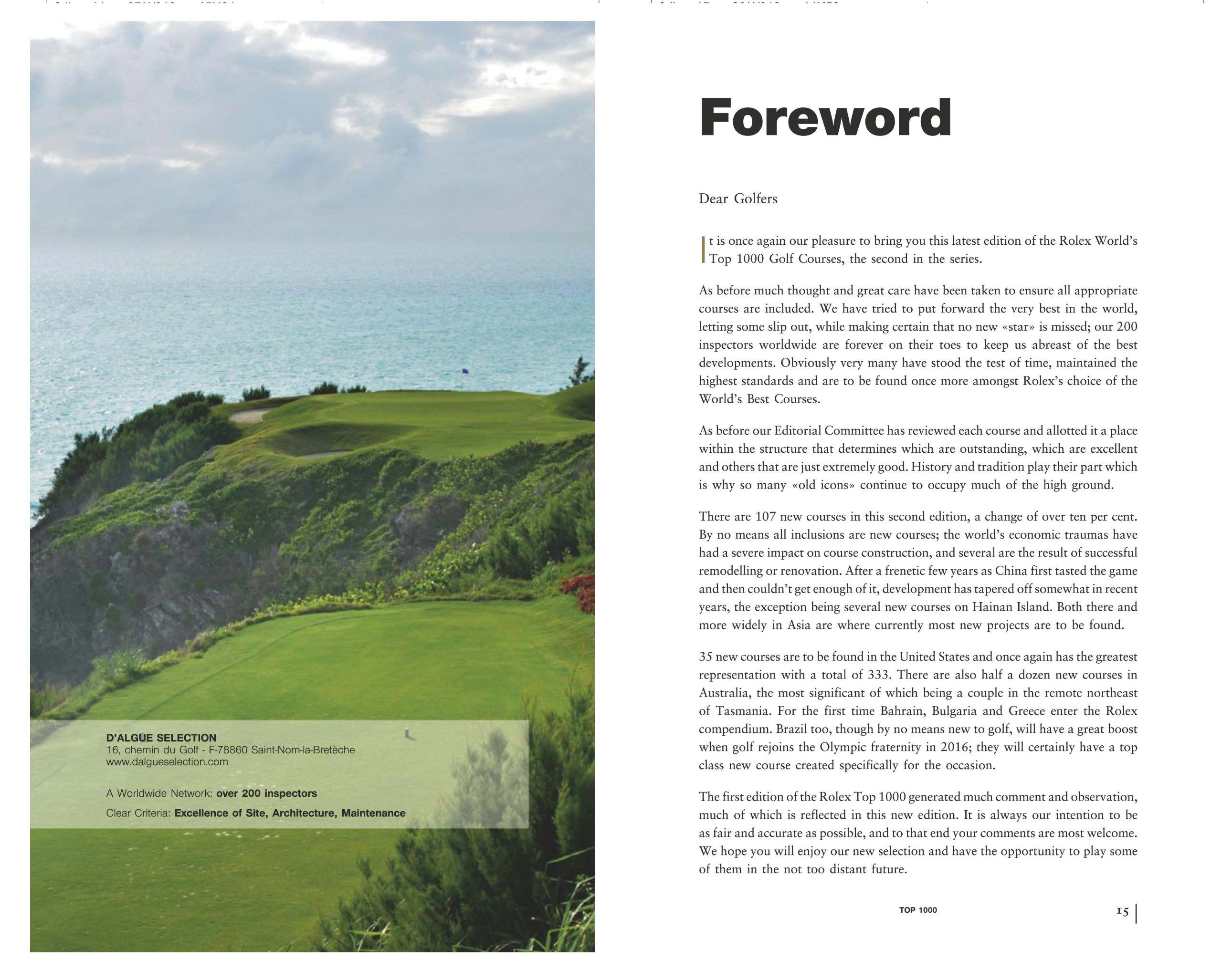 the rolex world u0027s top 1000 golf courses second edition gaetan