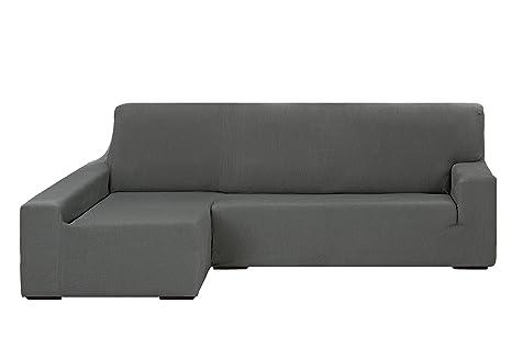 Martina Home Tunez Funda Elástica para Sofá Chaise Longue, Brazo Izquierdo, Tela, color Gris, tamaño desde 240 a 280 cm