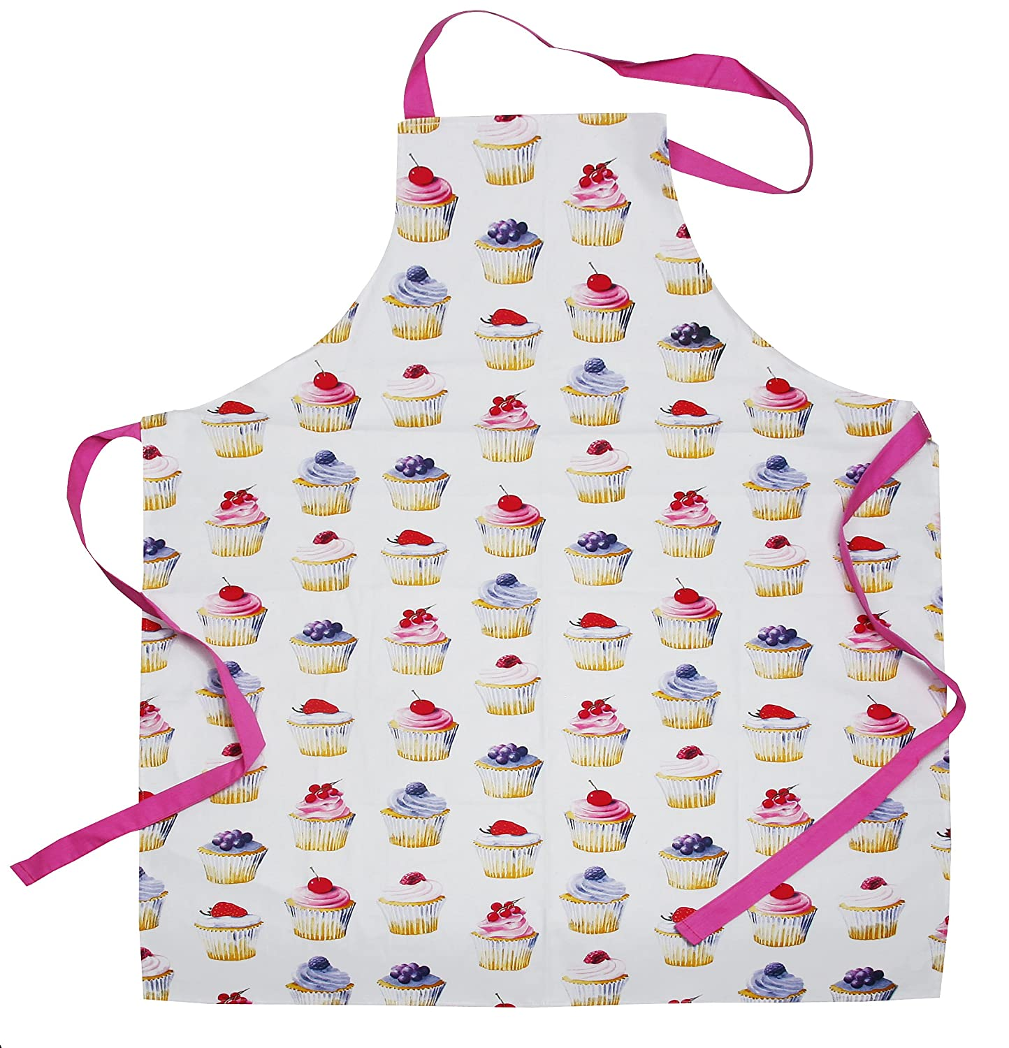 Beautiful CupCakes Design Ladies Apron - Made From 100% Cotton With Printed Cupcake Pattern - Ideal Gift Idea For Any Ladies Who Love To Bake Lesser & Pavey