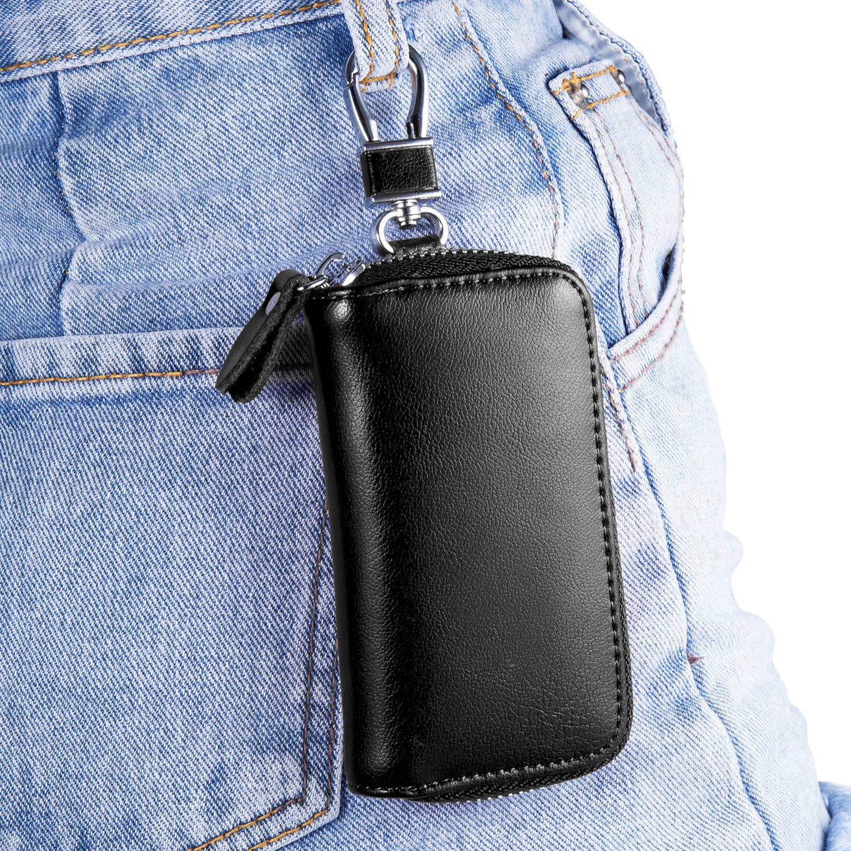 Amazon.com: Bakun - Funda de piel con cremallera para llaves ...