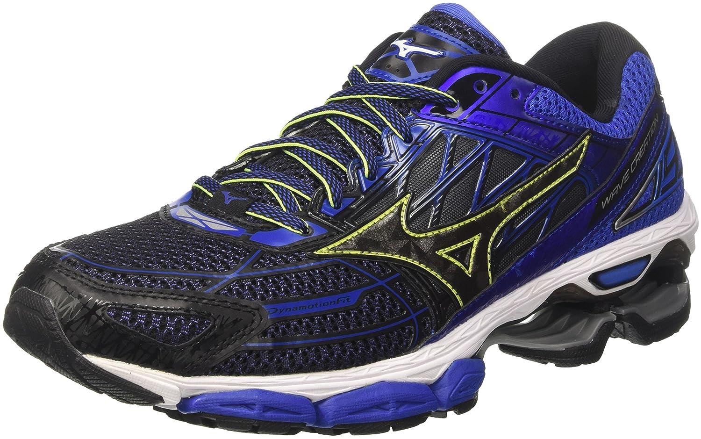 Mizuno Wave Creation 19, Zapatillas de Running para Hombre 44.5 EU|Multicolor (Black/Black/Dazzlingblue 10)
