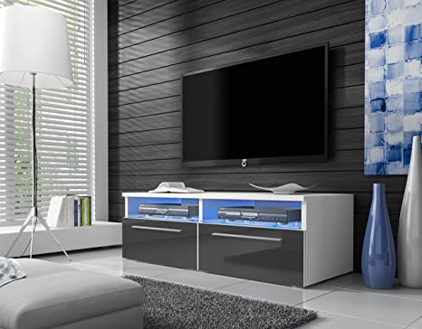 Siena - Mobile Porta TV / Supporto TV Moderno (100 cm, Bianco Opaco ...