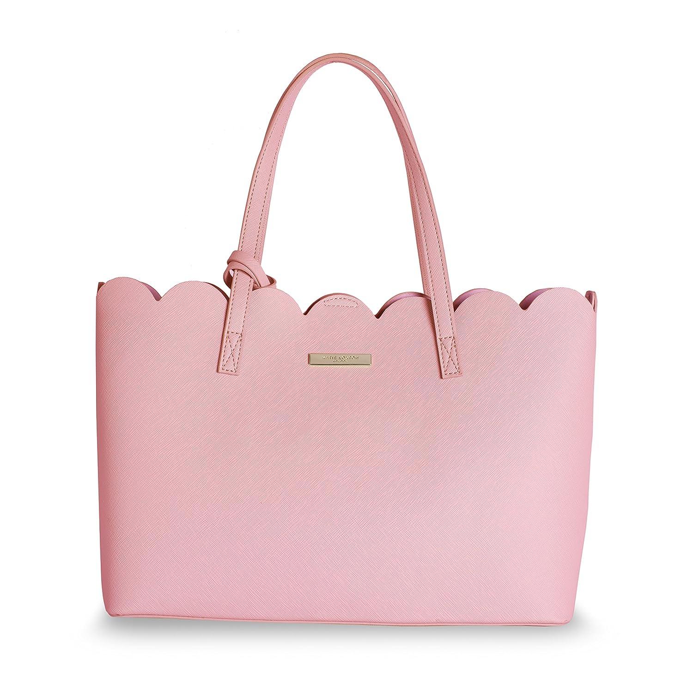 26 x 35cm Katie Loxton Blush Pink Pretty Poppy Scallop Handbag