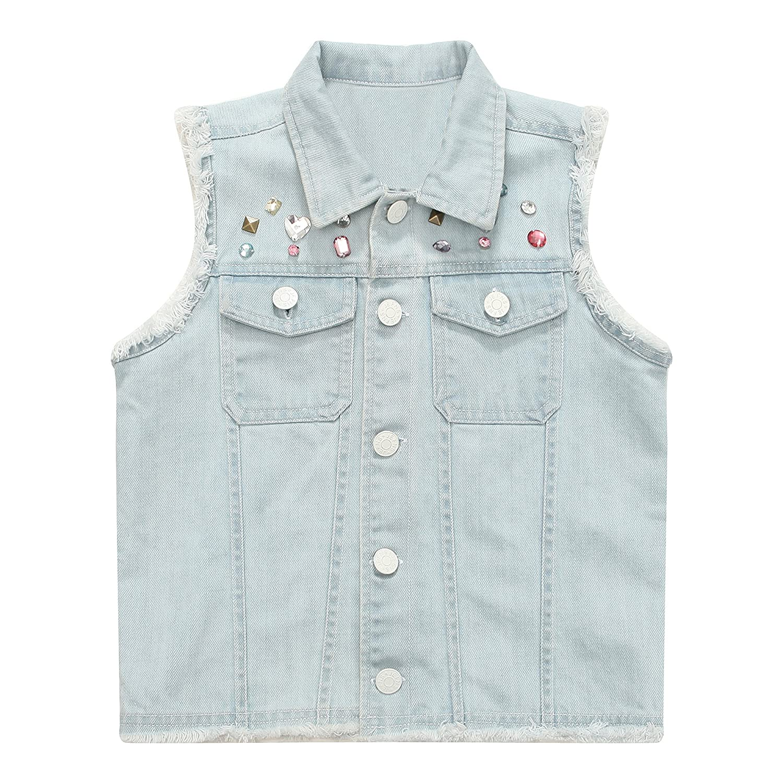 Richie House Girls' Denim Vest Rh1493