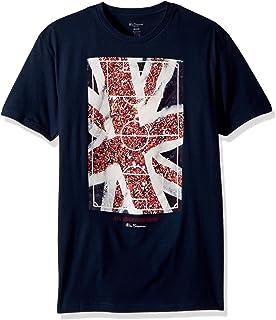 7bc4c18bdb12 Amazon.com: Ben Sherman Mens Spirit of Union Graphic T-Shirt Blue ...