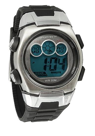 Hombres de relojes por gafas - negro y cromado reloj digital - hacer cada segundo Conde - ha0337: Sportech: Amazon.es: Relojes