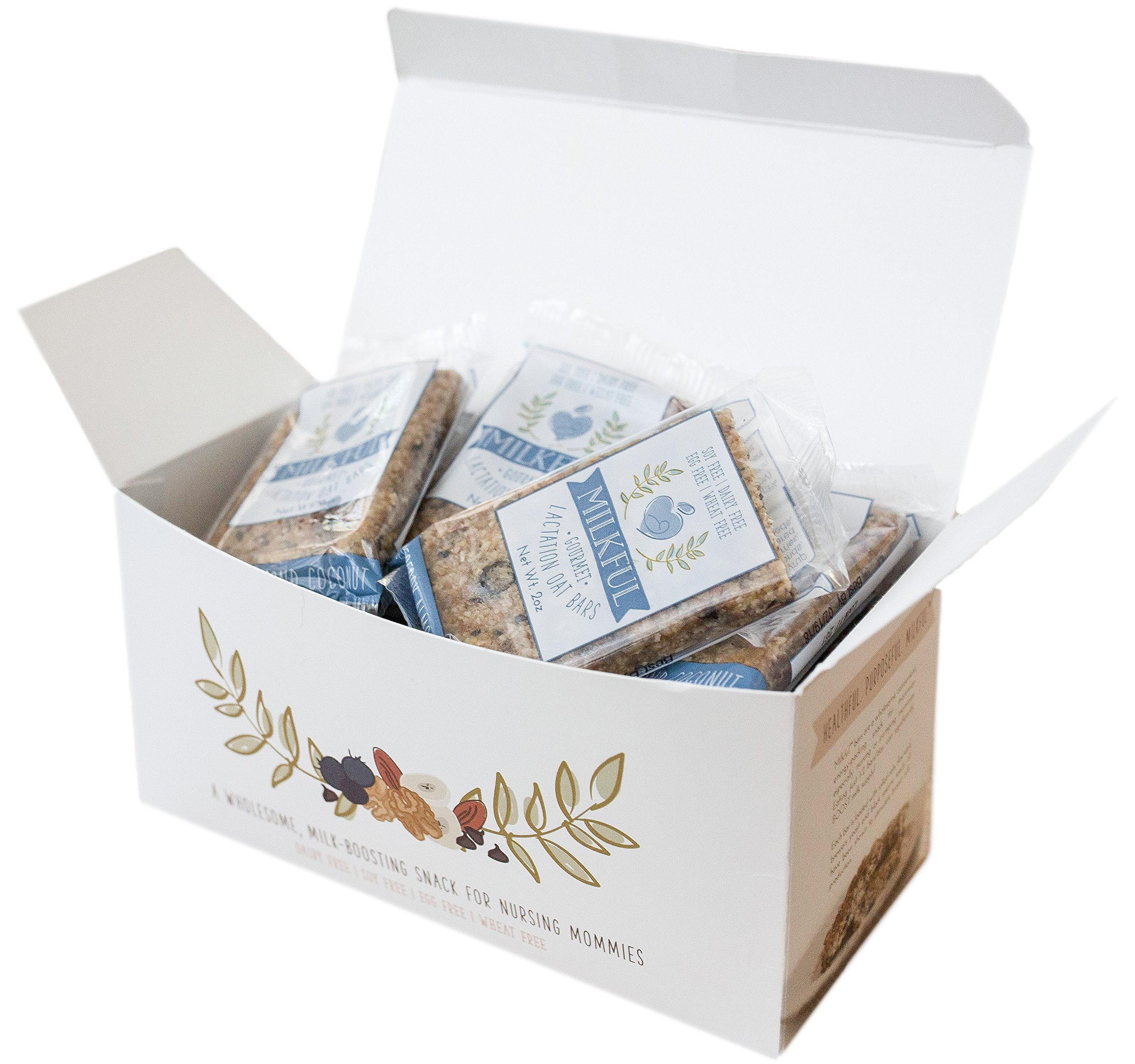 MILKFUL Lactation Bars- Wholesome Alternative to Lactation Cookies for Breastfeeding Moms. Helps Boost Breast Milk Supply.12 Bars. Dairy Free, Egg Free, Soy Free, Wheat Free (Blueberry Almond Coconut) by MILKFUL  (Image #2)