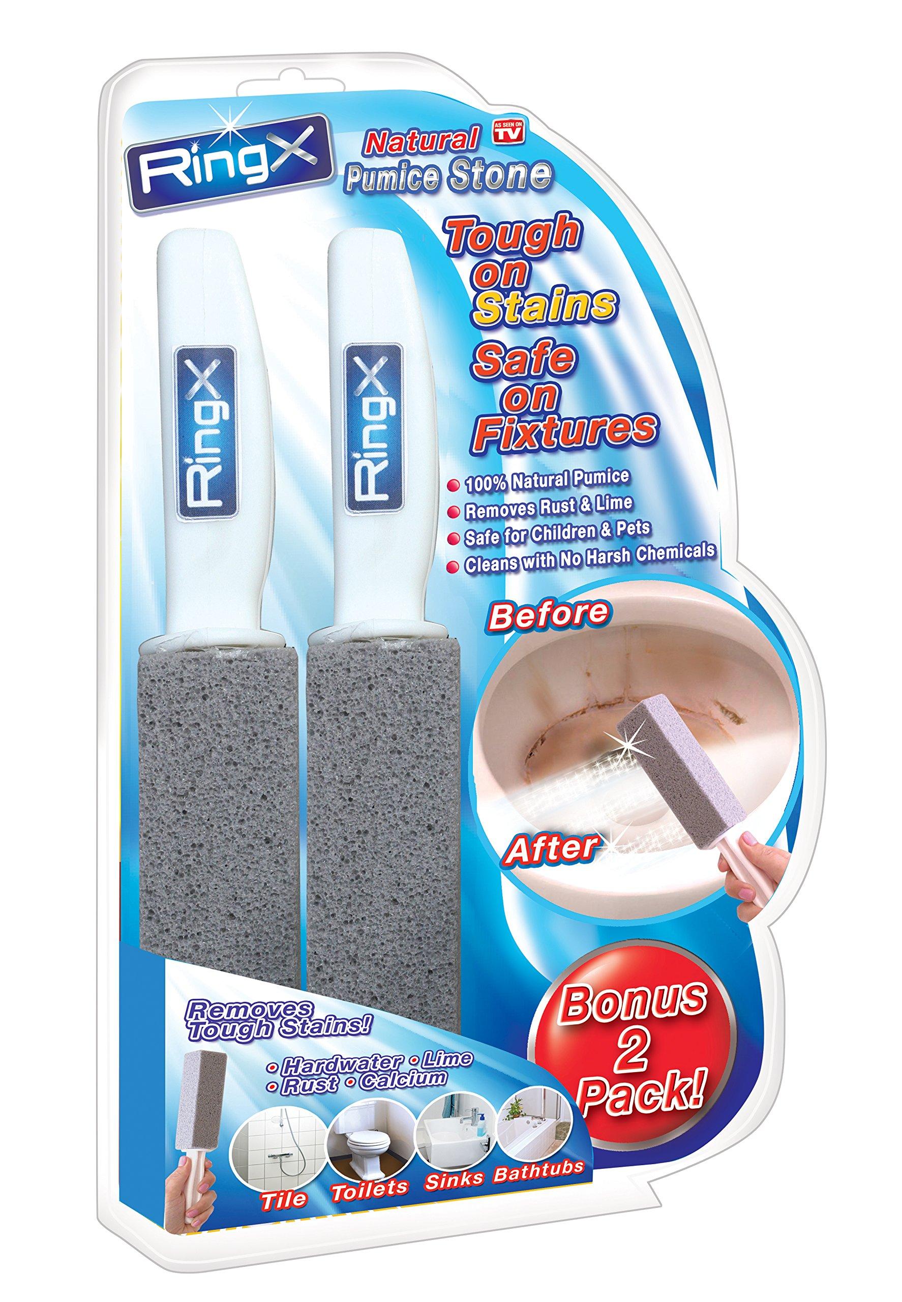 Spark Innovators RingX Natural Pumice Stone Toilet Bowl Cleaner