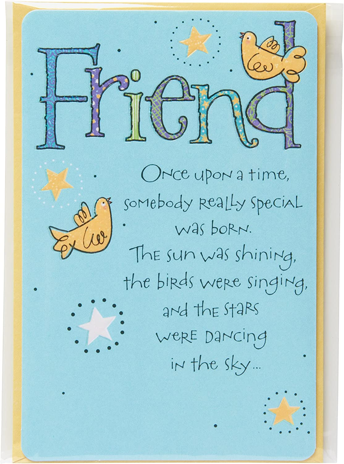 Astonishing Amazon Com American Greetings Bird And Stars Birthday Greeting Funny Birthday Cards Online Inifodamsfinfo