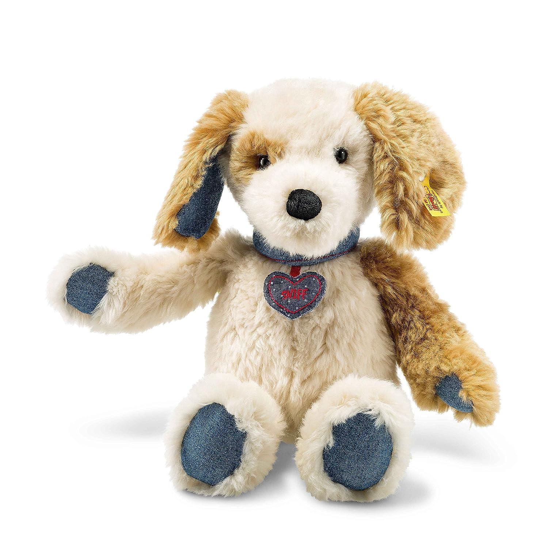 Steiff 84423 Cream Denim Darlings Sniff Dog Plush Toy