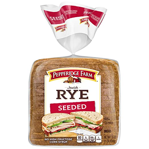Pepperidge Farm Rye Bread Pepperidge Farm Jewish Rye Seeded Bread, 16 oz: Amazon.com: Grocery & Gourmet Food